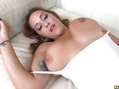 Jasmine gets pounded on her side and back while on the couch.