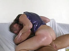 Remy rides that cock as her luscious ass bounces.