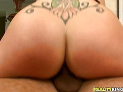 Chambrey rides that cock as her huge ass bounces.