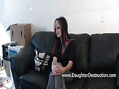Young daughter fucked hard in her ass