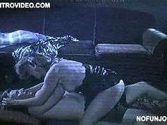 Sensual Joanna Cassidy Getting Banged On The Floor In Black Lingerie