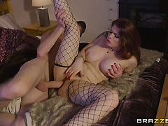 Danny D whips out his man meat to fuck Horny Lucia Loves butt after mouth job