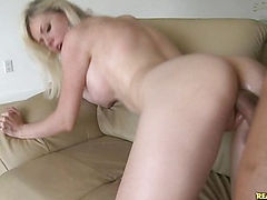 Margo gets her sweet pussy pounded from behind.