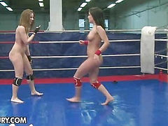 NudeFightClub presents Lexy Little vs Nicole Sweet