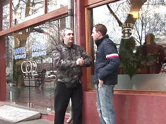 Cumshowered dutch prostitute jerks tourist