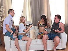Brian & Matt & Olivia Grace & Shrima Malati in Amazing Sex Party Doubles - YoungSexParties