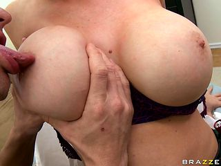 huge tits candy manson and a horny bald guy